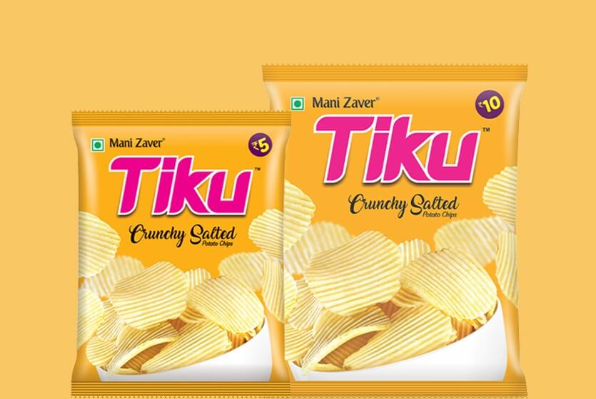 Tiku Crunchy Salted Potato Chips in Gujarat - Tiku Snacks