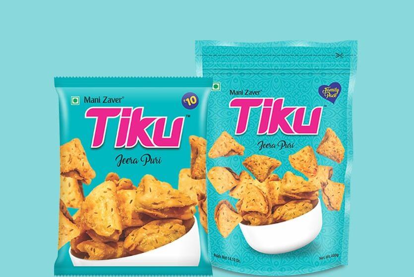 Tiku best jeera Puri in Gujarat - Tiku Snacks
