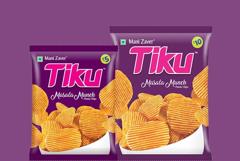 Tiku Masala Munch Potato Chips in Gujarat - Tiku Snacks