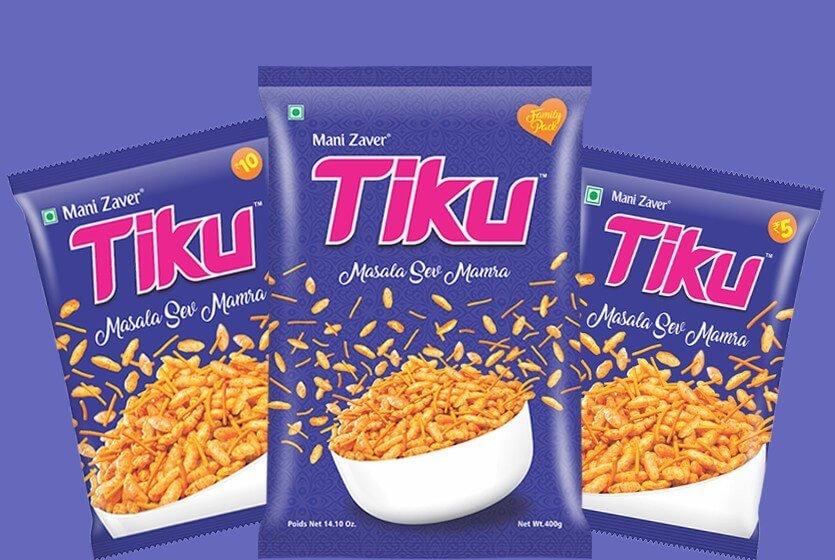 Tiku Best Masala Sev Mamra in Gujarat - Tiku Snacks