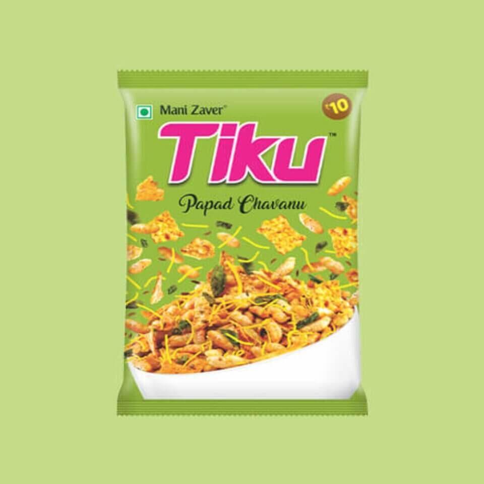 Tiku Papad Chavanu Best Snack with Tea