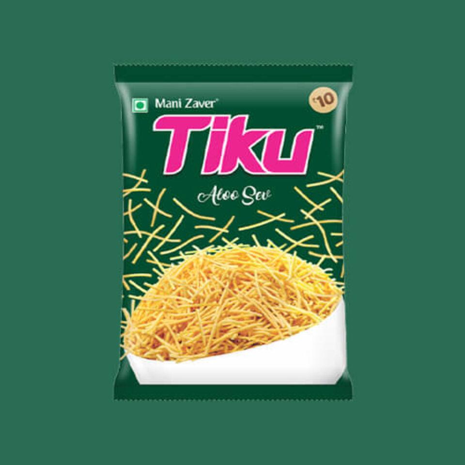 Tiku Aloo Sev in Gujarat - Tiku Snacks