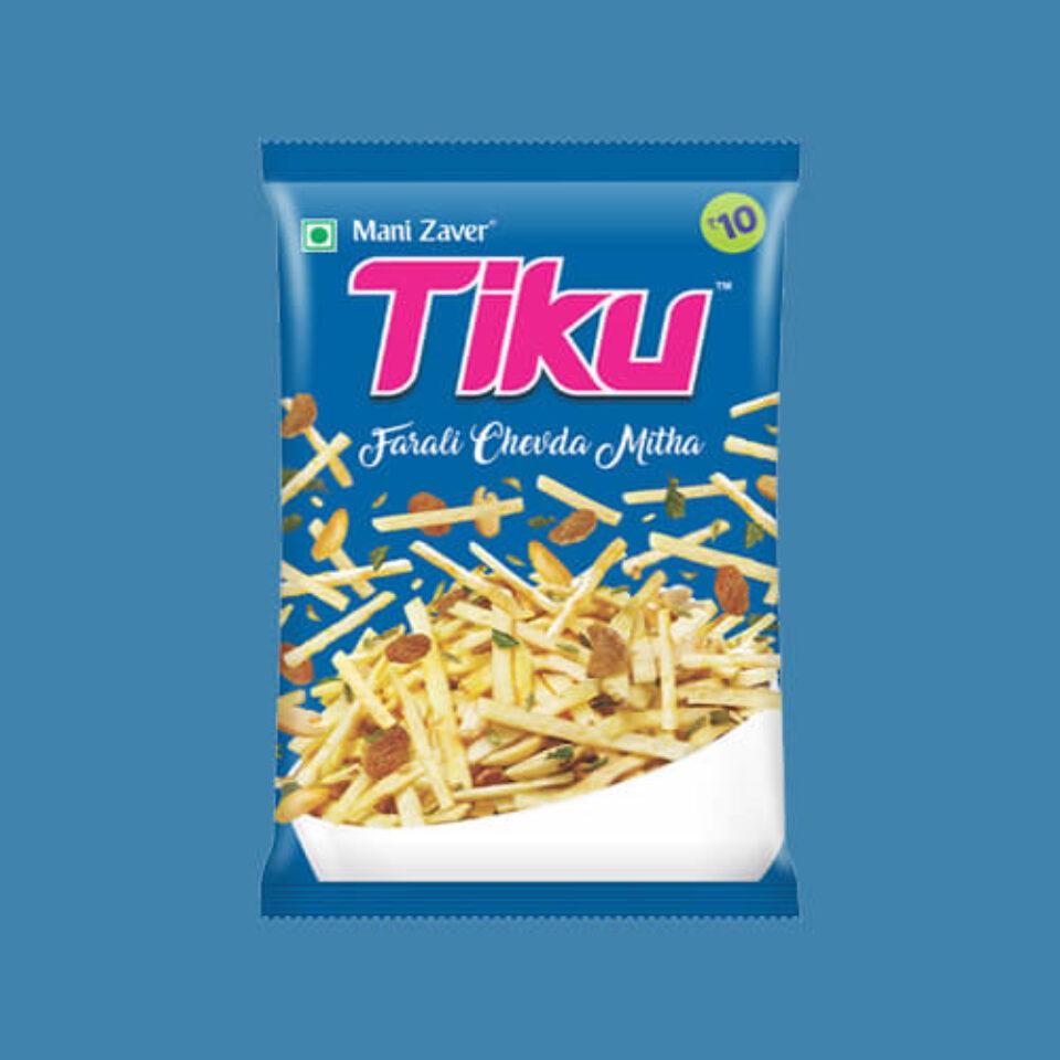 Tiku Farali Chevda Mitha in Gujarat - Tiku Snacks