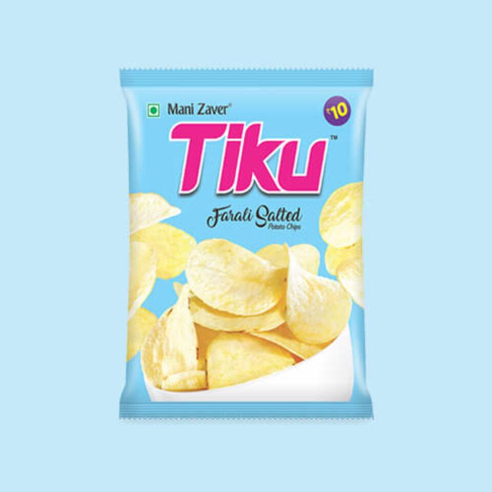 Tiku Best Farali Salted Potato Chips in Gujarat - Tiku Snacks