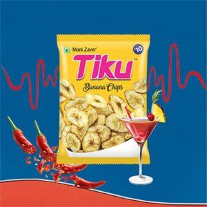Yellow color packet of Tiku Banana Chips